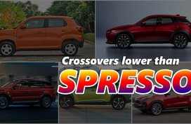 Crossovers with lower ground clearances than the 2020 Suzuki S-Presso