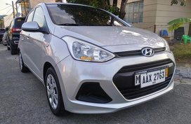 Silver Hyundai Grand i10 2015 Hatchback at Automatic  for sale in Manila