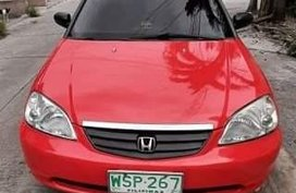 Red Honda Civic 2001 for sale in Manila