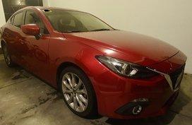 Selling Red Mazda 3 2015 Sedan in Parañaque