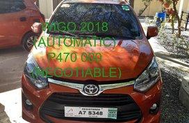 TOYOTA WIGO 2018 AUTOMATIC ORANGE (CDO)