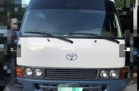 White Toyota Coaster 1998 for sale in Manila
