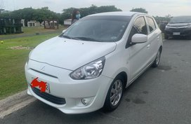 White Mitsubishi Mirage for sale in Manila