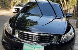 Black Honda Accord 2008 for sale in Quezon City