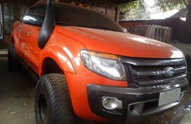 Orange Ford Ranger 2.0 Turbo Wildtrak Manual 2015 FOR SALE