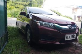HONDA CITY E 2015 maroon