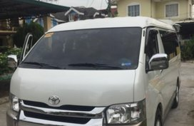 White Toyota Hiace 2017 for sale in San Juan City