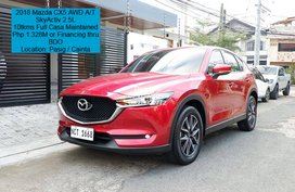 2018 Mazda CX5 AWD A/T (Top of the Line variant)  SkyActiv 2.5L Engine