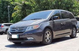 Grey Honda Odyssey 2012 for sale in Manila
