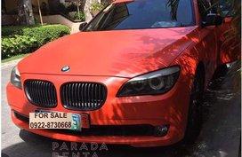 Orange BMW 740Li 2010 for sale in Muntinlupa City