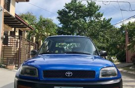 Blue Toyota RAV4 1996 for sale in Manila