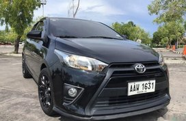 Selling Black Toyota Yaris 2014 Hatchback in Manila