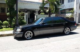 Black Mercedes-Benz S-Class 1995 for sale in Quezon City
