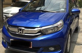 Blue Honda Mobilio 2018 for sale in Manila