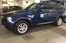 Blue BMW X3 2004 for sale in Mandaluyong