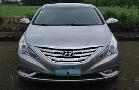 Silver Hyundai Sonata 2012 for sale in Davao City