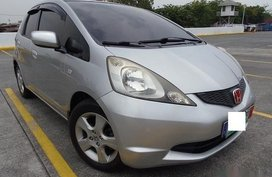 Silver Honda Jazz 2009 Hatchback for sale in Las Piñas