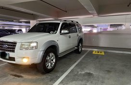 White Ford Everest 2008 SUV at 120000 km for sale in Manila