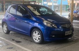 Blue Honda Brio 2015 for sale in Quezon City