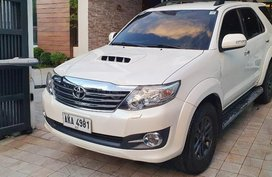 Sell Pearl White 2015 Toyota Fortuner in Banaue