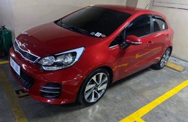Red Kia Rio 2017 for sale in Makati