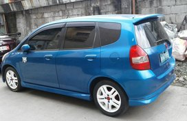 Selling Blue Honda Fit 2003 in Cainta