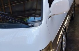 White Toyota Hiace Super Grandia 2002 for sale in Iloilo