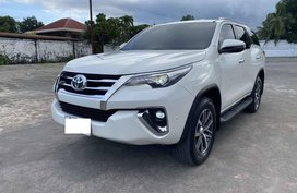 White Toyota Fortuner for sale in Davao