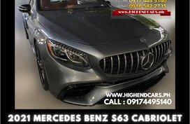 2021 MERCEDES BENZ S63 CABRIOLET