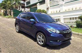 Blue Honda Hr-V 2017 for sale in Quezon City