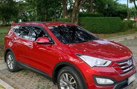 Red Hyundai Santa Fe 2014 for sale in Pasig