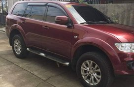 Red Mitsubishi Montero 2014 for sale in Quezon City