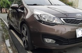 Brown Kia Rio 2014 for sale in Las Pinas