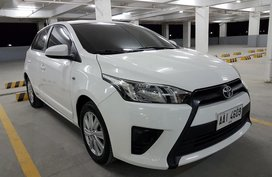 White Toyota Yaris 2014 for sale in Manila