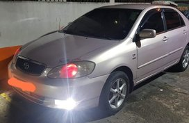 Silver Toyota Corolla Altis 2002 for sale in Manila