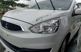 Pearl White Mitsubishi Mirage 2016 for sale in Tarlac