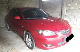 Selling Red Mazda 3 2005 in Quezon City