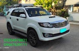 Pearl White Toyota Fortuner 2015 for sale in Orani