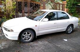 Pearl White Mitsubishi Galant 1997 for sale in Las Piñas