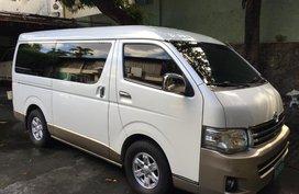Pearl White Toyota Hiace Super Grandia 2013 for sale in Quezon City