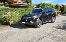 Brown Toyota Fortuner 2018 for sale in Davao City