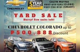 Brand new CHEVROLET COLORADO starts at 968K