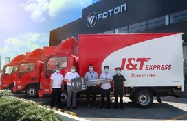 J&T Express has over 450 Foton trucks in its fleet