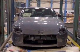 Next-gen Nissan Z car leaked naked in production form