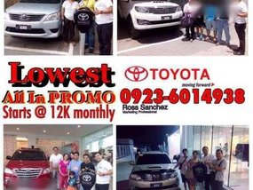 Toyota Lowest All In Promo
