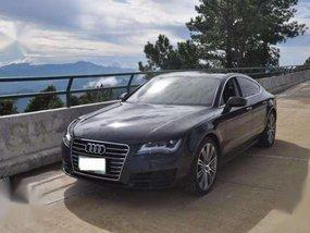 Audi A7 2012 TFSi V6 gasoline engine in midnight black