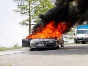 2019 Audi A7 caught fire while testing in Alps