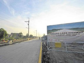 DPWH opens Laguna Lake Highway's 2-lane segment in Taguig