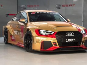 Dazzled by the 100th Audi RS3 LMS in gold livery