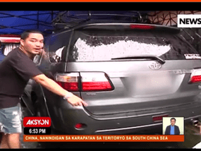 A Fortuner is broken beyond belief at Toyota Service Center